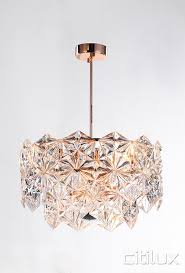 mirka 6 lights pendant rose gold cux