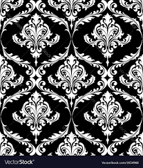 Damask Pattern Free Black And White Vintage Damask Pattern Royalty Free Vector