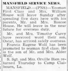 Military Promotion Francis Eugene Wolf - Newspapers.com
