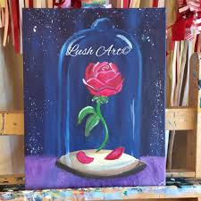 beauty the beast inspired family day paint class