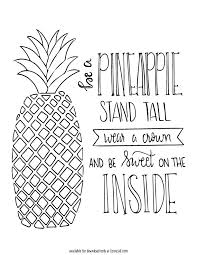 Small Picture Free Pineapple Printable Liz on Call