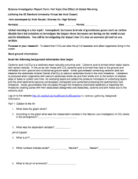 Science Report Format Scientific Investigation Report Format Fill Online