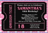 Wonderfully Gallery Of 18th Birthday Party Invitation Templates Free