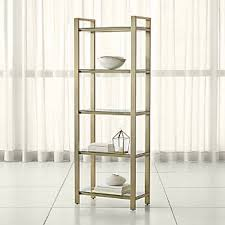 Glass shelves bookcase Ikea Vittsjo Pilsen Brass Bookcase Crate And Barrel Bookcases Wood Metal And Glass Crate And Barrel
