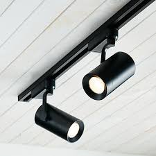 Black track lighting fixtures Suspended The Beacon Lighting Ledlux Action Light 600 Lumen Dimmable Black Cylinder Track Spot Only In Warm White Track Sold Separately Pinterest The Beacon Lighting Ledlux Action Light 600 Lumen Dimmable Black