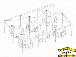 Round Table Seating Capacity 20x30 Pole Tent Layouts Pictures Diagrams Rentals