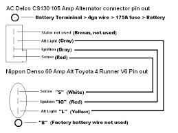 wiring diagram delco remy cs130 alternator wiring diagram cs get gm 4 pin alternator wiring diagram at 4 Wire Alternator Diagram
