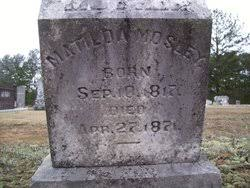 Matilda Hogan Mosley (1817-1871) - Find A Grave Memorial
