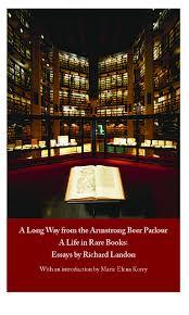 richard landon s book of essays now out thomas fisher rare book  cover of richard landon s book of essays