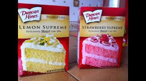 Duncan Hines Lemon Supreme Et Strawberry Supreme Produits