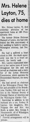 Obituary for Helene Hickman Layton (Aged 75) - Newspapers.com