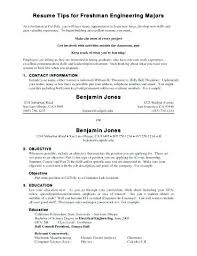Resume Examples For College Students Delectable Resume Examples For Freshmen College Students Packed With Freshman