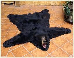 bear head rug faux bear skin rug with head taxidermy bear rugs for bear head rug