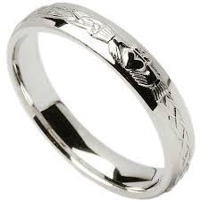 Irish Wedding Ring Celtic Knot Claddagh Mens Wedding Band At Irish Wedding Rings For Men