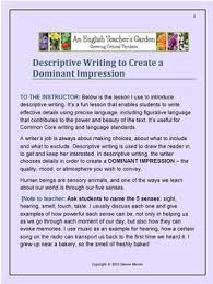 descriptive writing creating a dominant impression by dianne mason descriptive writing creating a dominant impression