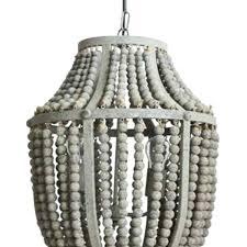 bead chandelier wood turquoise earrings