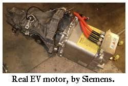 electric car motor. Siemens AC Motor For Electric Car