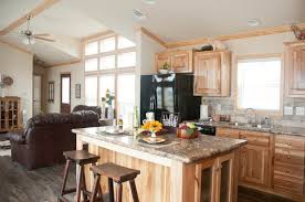 classic 1676c interior with pantry and hickory cabinets available at recreational resort cottages and cabins