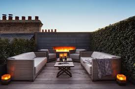 rooftop furniture. This Rooftop Combines A Built-in Fireplace, Plant-covered Walls, Wood Flooring, And Comfortable Outdoor Furniture, To Create Quiet Escape From Busy London Furniture P