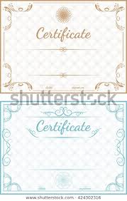 Templates For Certificates Set Vector Templates Certificates On Blue Stock Vector