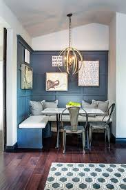 kitchen nook lighting. traditional with an industrial twist breakfast nook builtin banquette navy walls metal chairs hardwood floors and pendant lighting dettaglio kitchen n