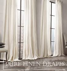 designer ready to hang curtains exclusive chic ready made pure linen