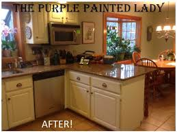 Perfect Painted Brown Kitchen Cabinets Before And After The Throughout Inspiration