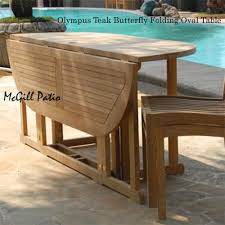 6 feet teak oval folding outdoor dining