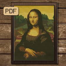 Fine Art Cross Stitch Designs Leonardo Da Vinci Cross Stitch Pattern Pdf Mona Lisa