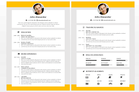 Microsoft Office Resumes Alexander Resume Template Fullwidth Colored