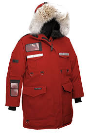 Classic-Fit Mens Canada Goose Resolute Parka Red Sale Online
