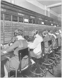 Image result for 1927 – The first transatlantic telephone service is established from New York City to London.