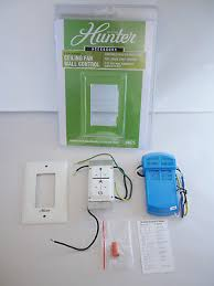 hunter 99375 universal ceiling fan wall control on off sd light dimmer white