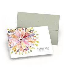 Watercolor thank you cards Watercolor Flowers Amazoncom Watercolor Flower Burst Thank You Cards set Of 10 Premium Blank Note Cards With Sage Green Envelopes Included Alloccasion Greeting Card Amazoncom Amazoncom Watercolor Flower Burst Thank You Cards set Of 10