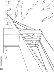Small Picture Coloring pages for United States Landmarks Brooklyn Bridge etc