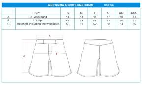 Cage Fighter Shorts Size Chart China Best Heat Transfer Fighting Mma Shorts Suppliers And