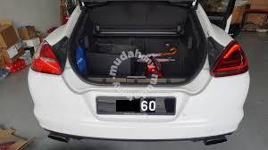 porsche panamera interior trunk. porsche panamera facelift rear lamp conversion interior trunk