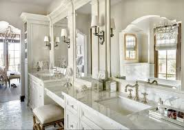 classic bathroom lighting. traditional bathroom classic with ivory white cabinets and polished marble lighting