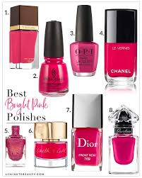 bright pink nail polishes to try now