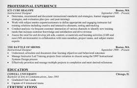 Instructional Design Resume Random Resumeenglish1 Instructional Designer Resume Example