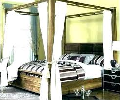 Wood Canopy Bed Frame King Size Wooden Queen Medium Of Deluxe Home ...