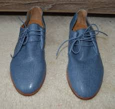 details about brand new corso como blue flat leather lace up shoes size 8 m