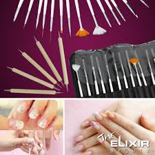 The Elixir Beauty Professional 20pcs Nail Art Decorations Painting ...