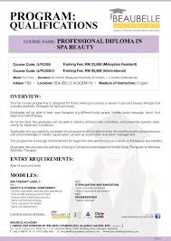 qualifications professional diploma in spa beauty skills  professional diploma in spa beauty 1