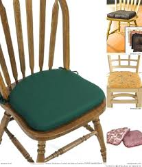 Kitchen Chair Pads With Ties Country Kitchen Chair Cushions With