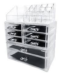 sodynee acrylic makeup cosmetic organizer storage acrylic storage drawers uk acrylic storage drawers ikea