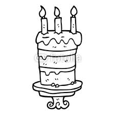 Line Drawing Cartoon Birthday Cake Buy Photos Ap Images Detailview