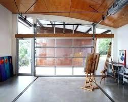 clear garage doors door glass cost aluminum