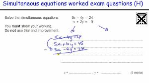 how to do simultaneous equations gcse maths revision higher exam qu elimination substitution you