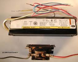 section 2 the components of fluorescent lighting photograph of two ballasts of different sizes